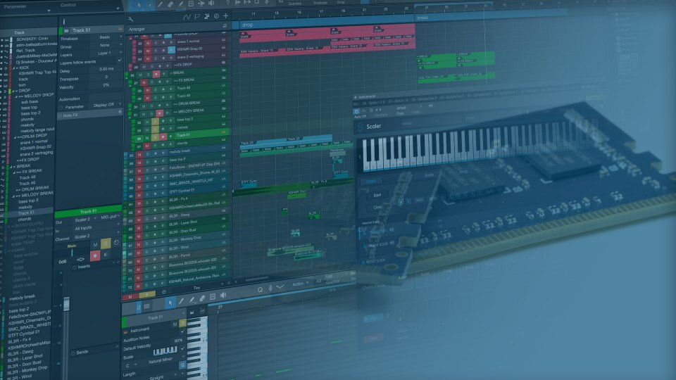 How much RAM memory do you need for music production 2020