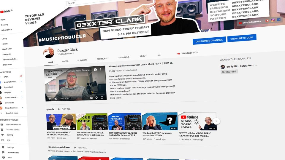 how to promote yourself as music producer or dj on youtube