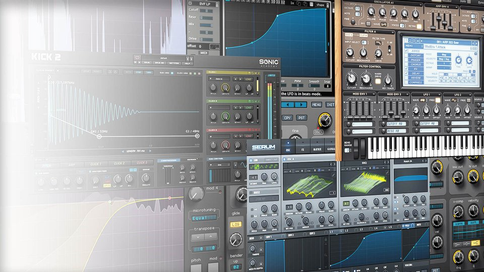 Types of instrument plugins for LMMS fl studio Logic Pro X Ableton and Pro tools
